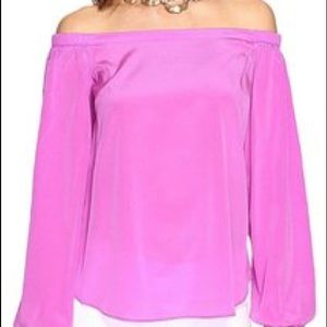 Lily Pulitzer off shoulder blouse